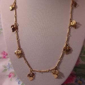 Sarah Coventry New Seasons Gold Tone Leaf Necklace